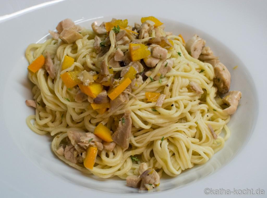 Spaghetti_mit_Zucchini_und_Brathähnchenresten_ (2)