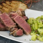 Dry Aged Steak mit Gurkensalat und Estragon