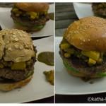Burger mit Apfelchutney