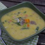 Käse-Lauch Suppe mit Gorgonzola
