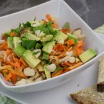 Karotten-Avocado Rohkostsalat