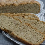 Zucchini Brot mit Leinsamen