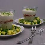 Fischmousse mit Kaviar und Gurkensalat