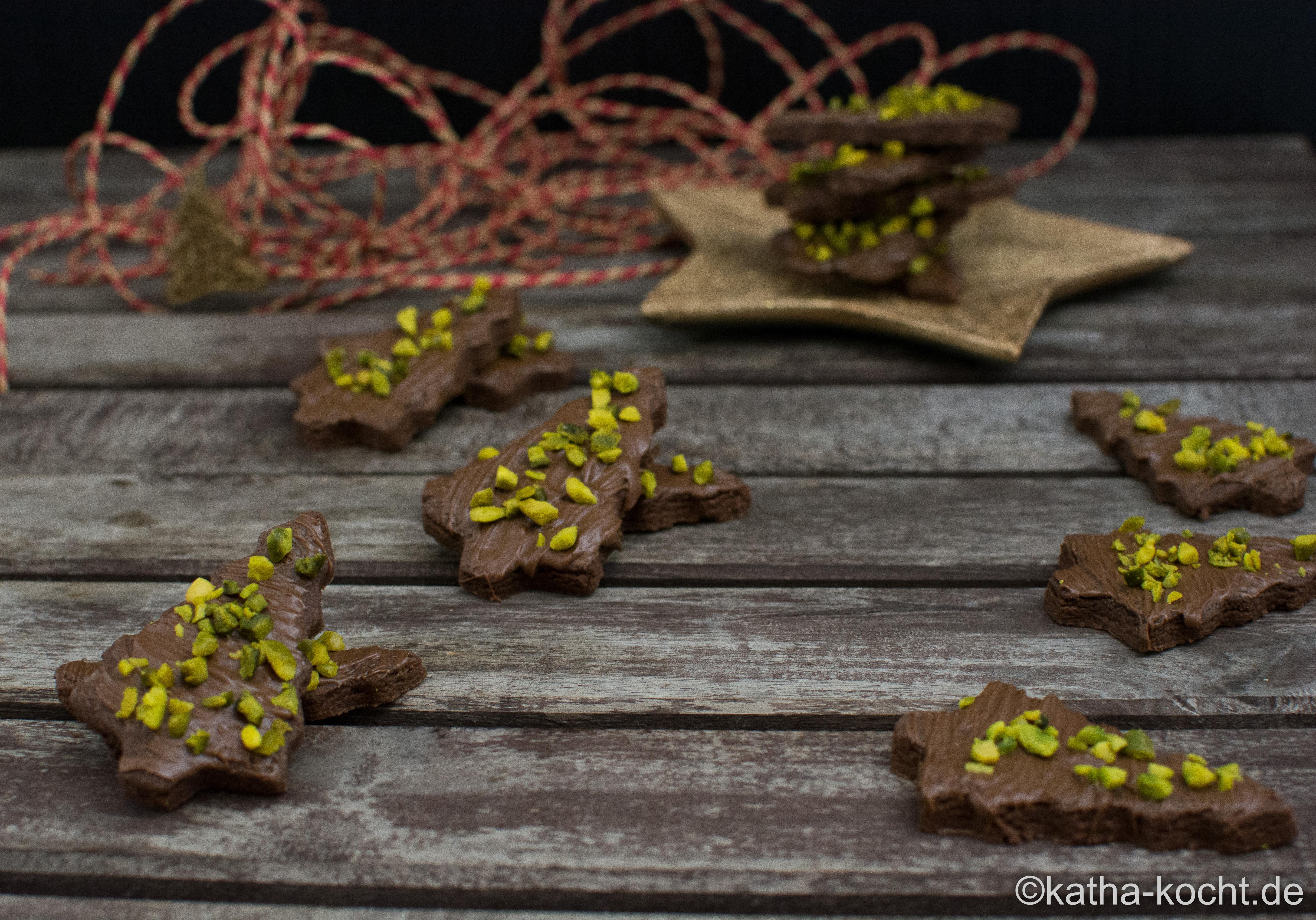 Weihnachtsplätzchen Schokoladenplätzchen.Weihnachtsgebäck Schokoladenplätzchen Mit Nutella Katha Kocht