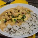 Hähnchencurry mit Zucchini und Reis