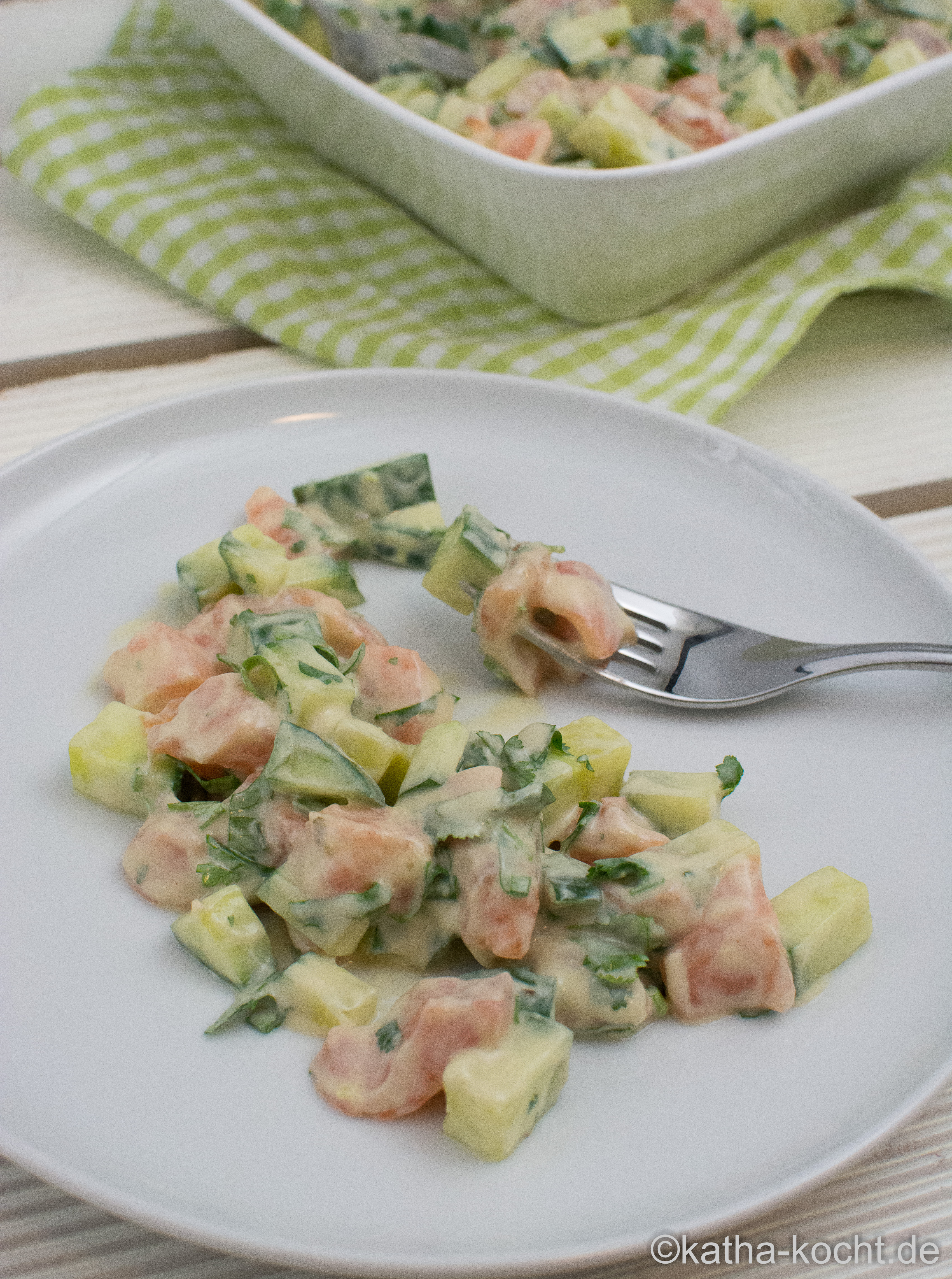 klassischer gurkensalat