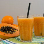 Papaya Smoothie mit Kokoswasser