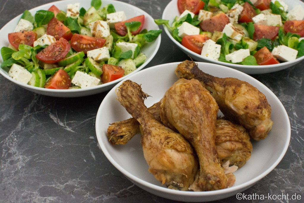 hühnerschenkel im backofen zubereiten