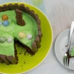 Schokoladenkuchen mit Joghurette zu Ostern