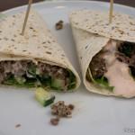 Feta-Hackfleisch Wraps