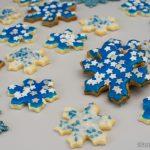 Weihnachtsgebäck – Marzipan Schneeflocken-Plätzchen