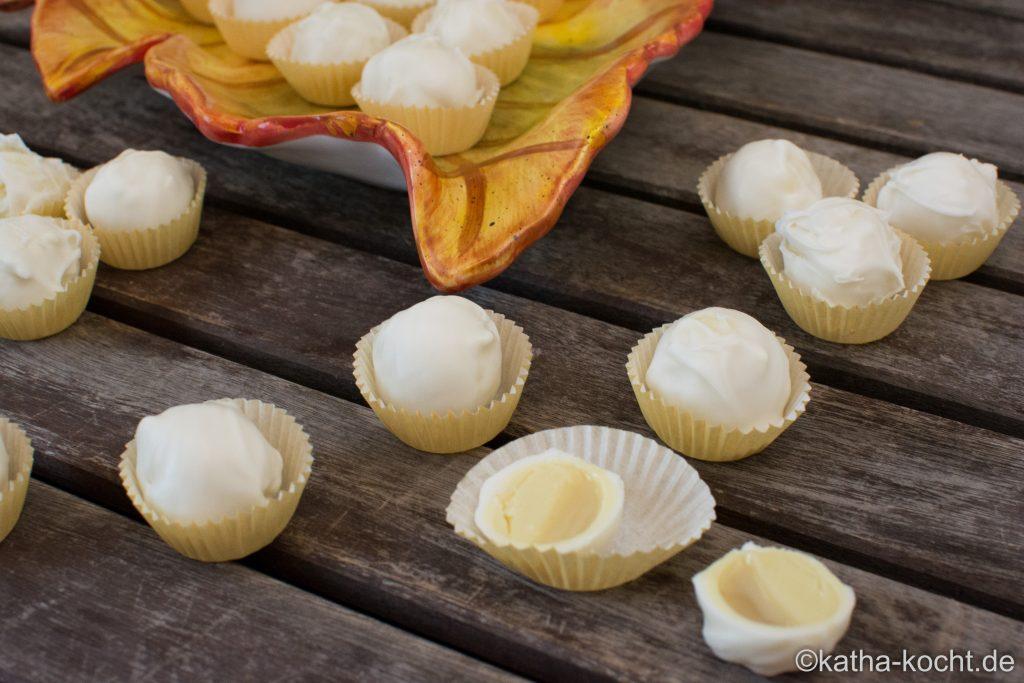 Pumpkin Pie Spice Pralinen mit weißer Ganache