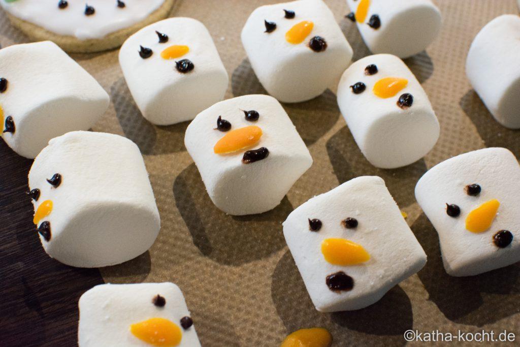schmelzende schneemann plätzchen - schmelzender frosty plätzchen