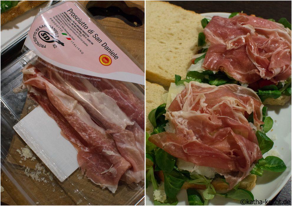 Sanwich mit italienischen Köstlichkeiten