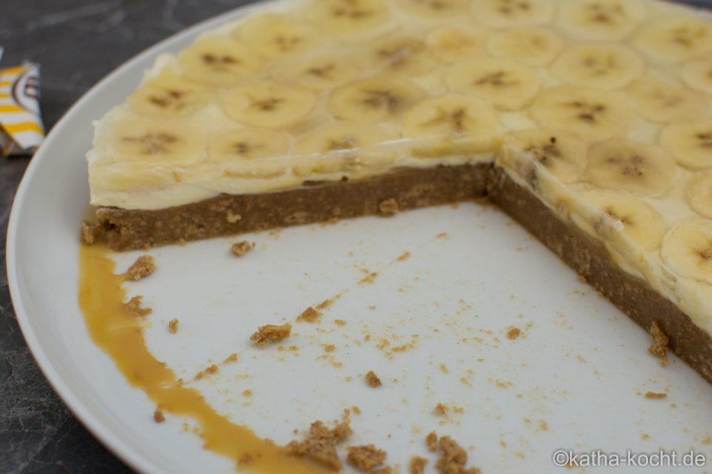 weihnachtlicher Spekulatius Bananen Kuchen
