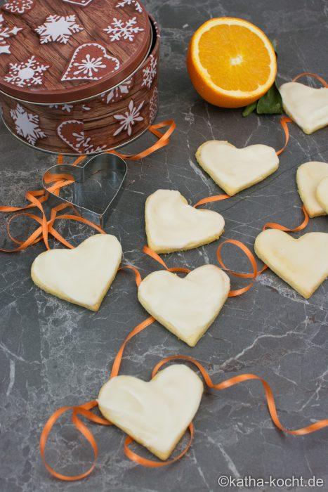 Weihnachtsgebäck - Orangen Plätzchen