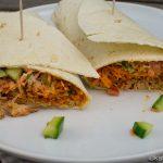 Pulled Pork Wrap mit asiatischer Füllung
