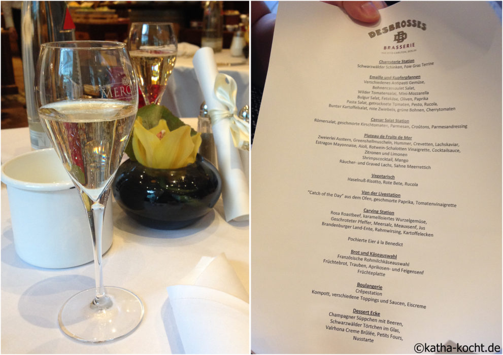 Champagner Brunch in der Brasserie Desbrosses - Ritz Carlton
