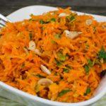 Cashew-Karottensalat mit Apfel und Basilikum – Rohkostsalat