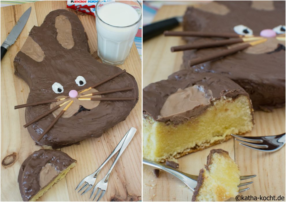 Osterhasen Kuchen - Kinderschokolade Kuchen