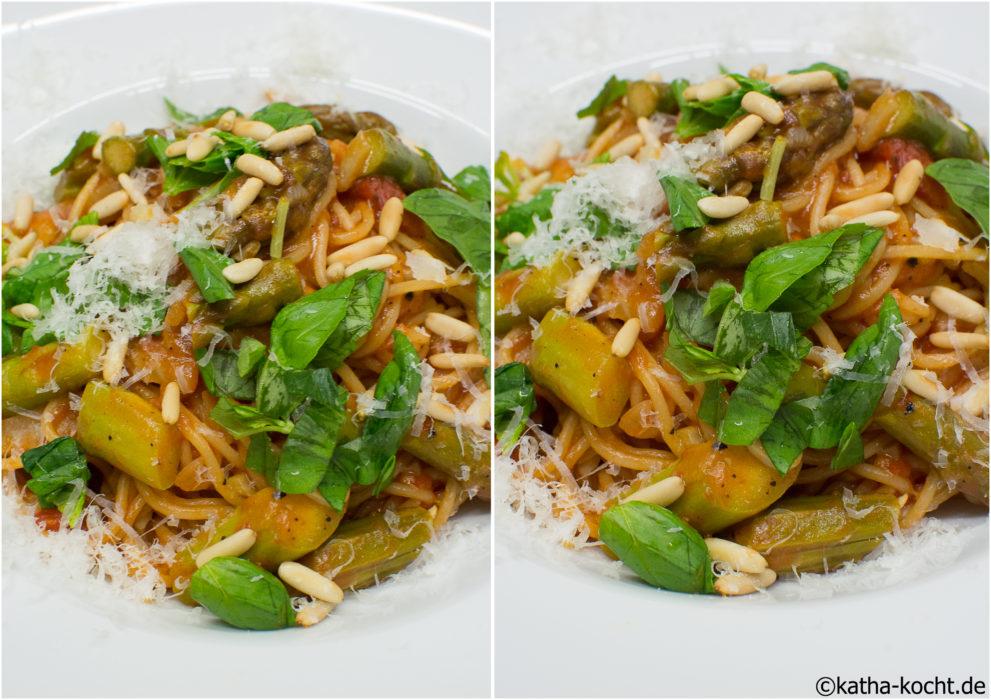 One Pot Pasta mit Spargel-Sugo