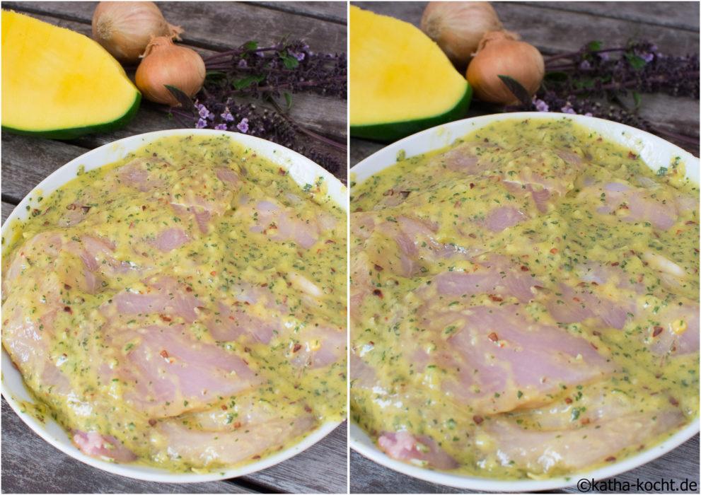 Grillmarinade - Chili-Mango Marinade mit Basilikum