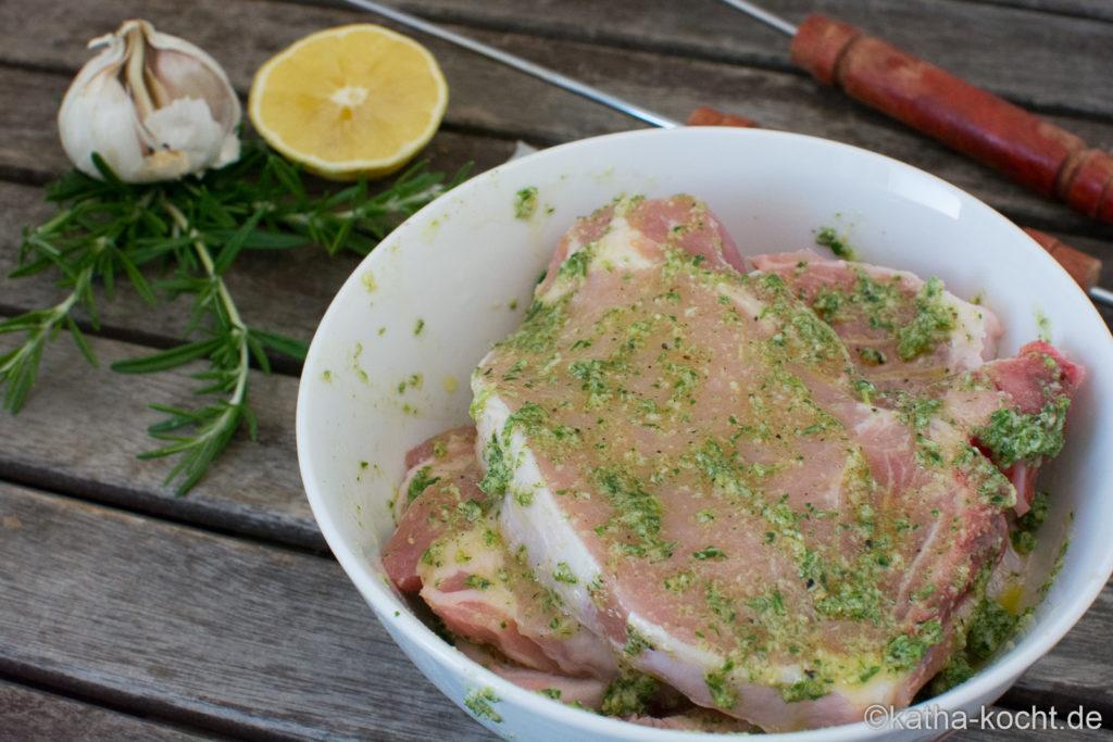 Grillmarinade - Rosmarin-Zitronen Marinade mit Knoblauch