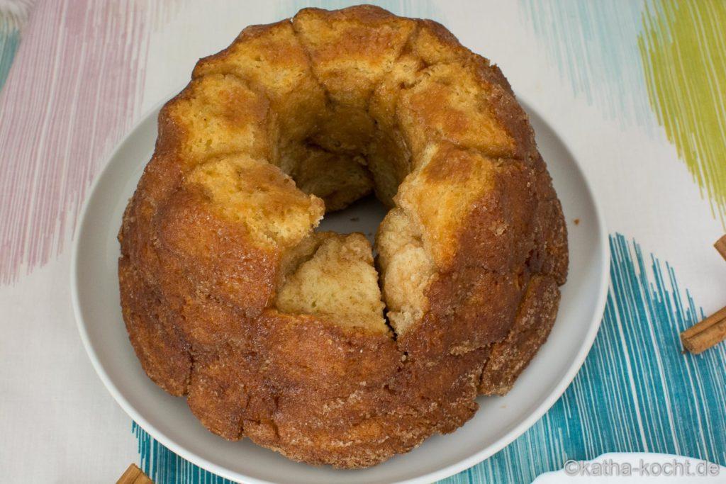 Süßes Monkey Bread mit Zucker und Zimt