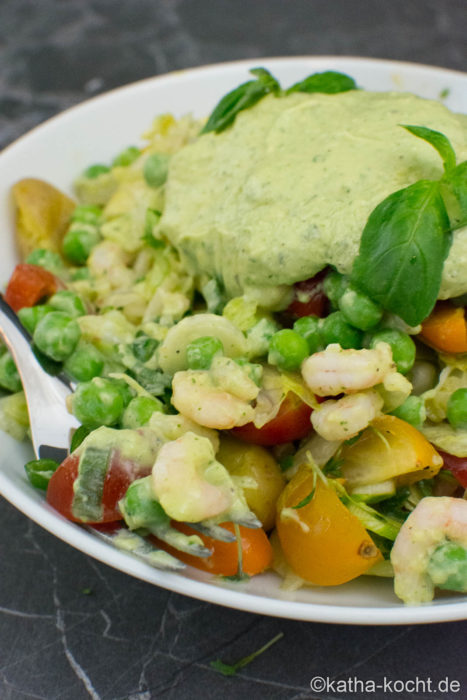 Jamie Olivers Garnelen-Avocado Salat
