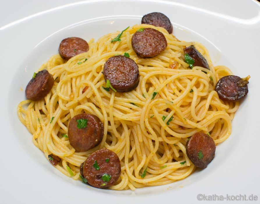 Spaghetti mit Chorizo