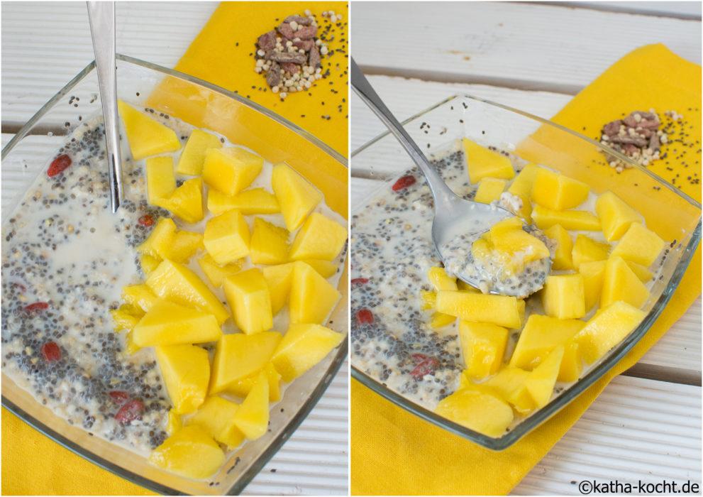 Chia Overnight Oats mit Mango