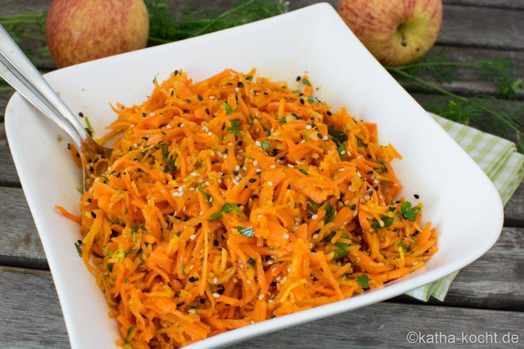 Rohkostsalat - Sesam-Karotten Salat