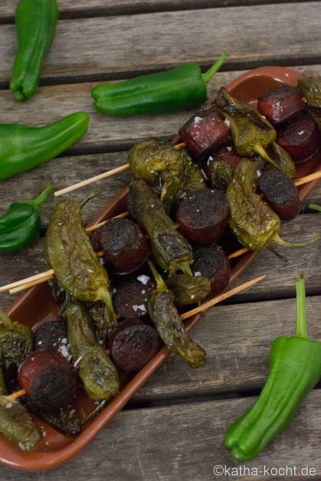 Tapas - Chorizo-Pimentos Spieße