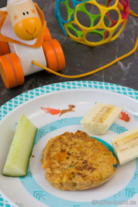 Gemüse-Pancakes für Babys