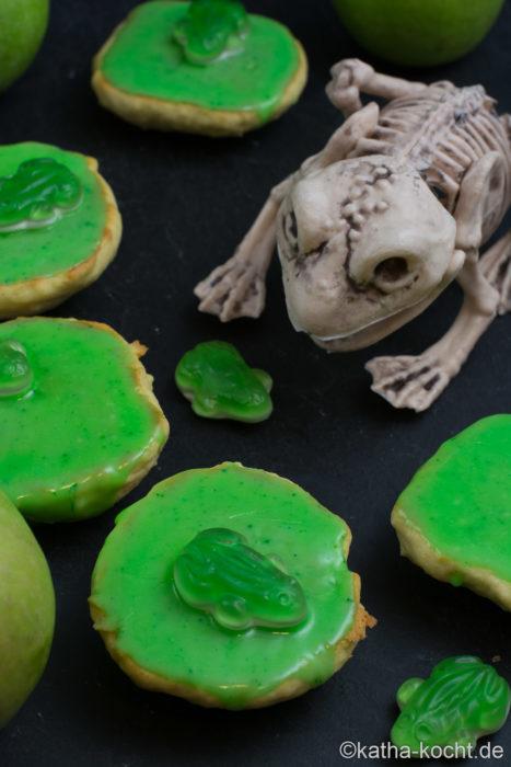 Apfel Amerikaner mit Halloween Deko Idee