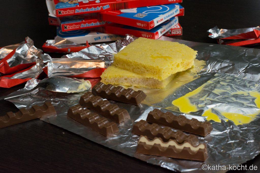 French Toast mit kinder Schokolade