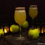 Giftiger Apfel – mein Sektcocktail für Halloween