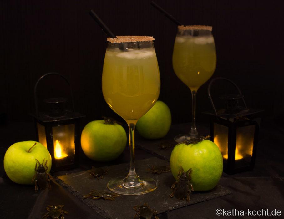 Giftiger Apfel - mein Sektcocktail für Halloween