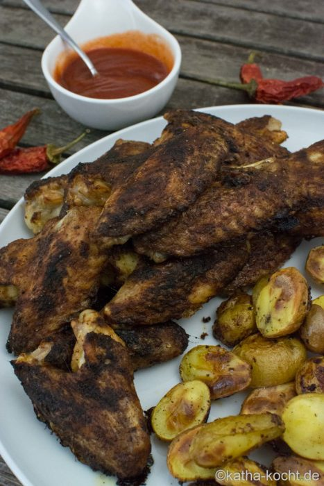 Teuflisch scharfe Chicken Wings