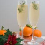 Winterlicher Mandarinen-Gin Tonic mit Rosmarin