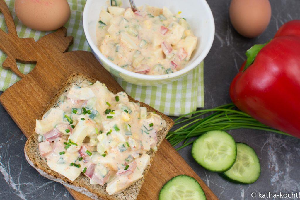 Eiersalat selber machen - die leichte Variante