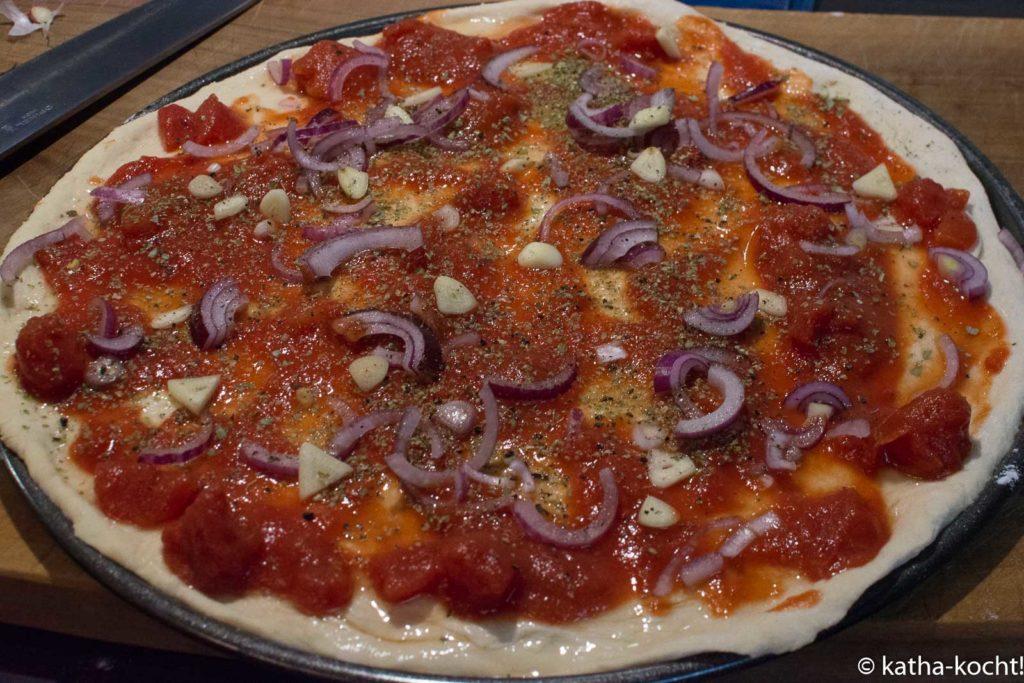 Hähnchen-Spinat Pizza