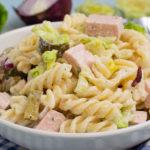 Nudelsalat mit Fleischwurst – die leichte Variante