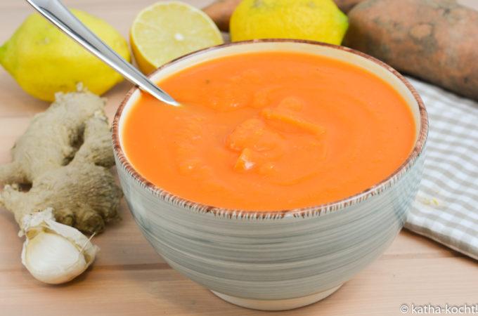 Schnelle Ingwer-Süßkartoffelsuppe