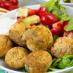 Basilikum-Falafel auf dem Actifry