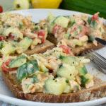 Sommerliche Gurke-Lachs-Brote