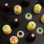 Halloween - gruselige Monsteraugen - Schokokuss-Augen