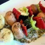 Gemüse-Grillspieße mit Paprika, Champignons und Zucchini