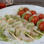 Grillmarinade - Garnelen-Spieße in Knoblauch-Zitronen-Marinade