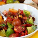 Bunter Chorizo-Tomatensalat